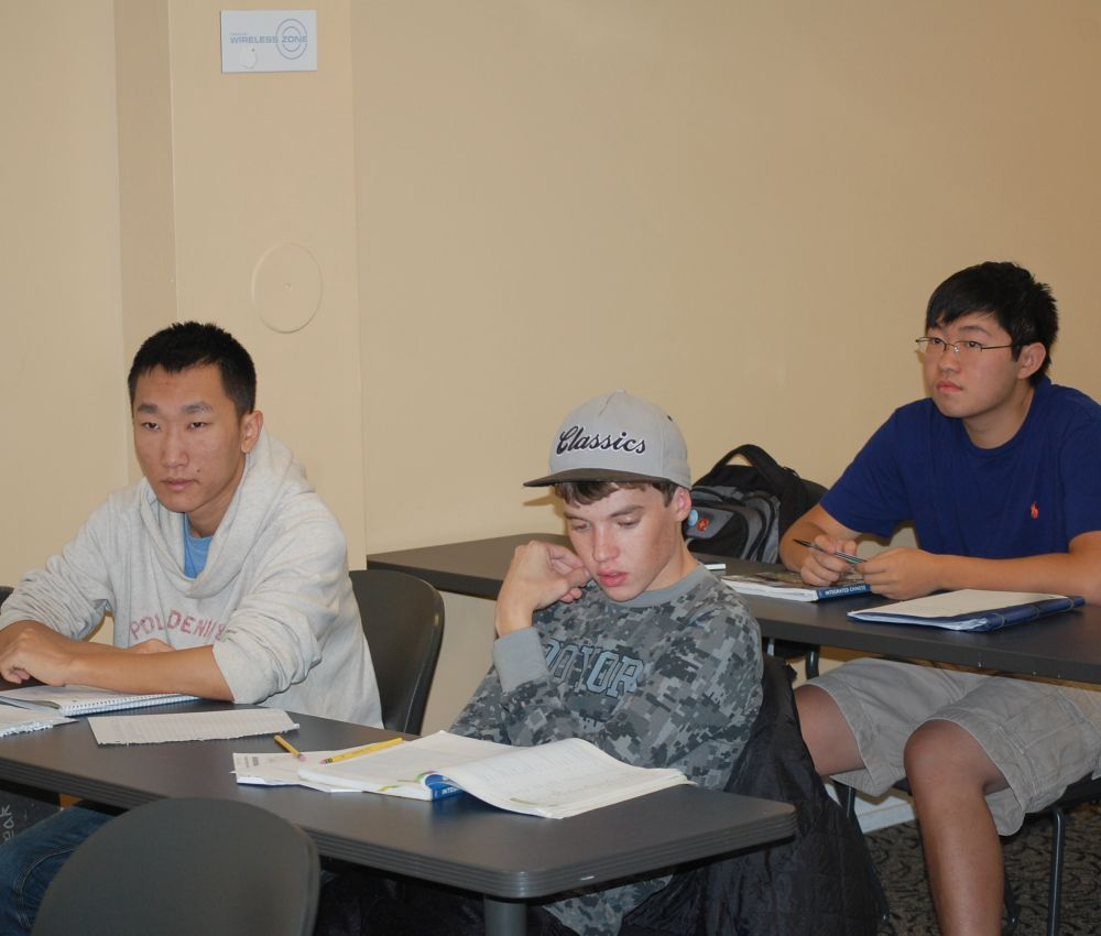 Students learning Chinese Mandarin, UNC Chapel Hill